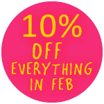 10 percent off in Feb