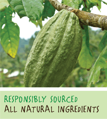 Responsibly sourced, all natural ingredients