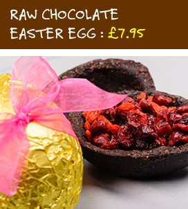 Raw Chocolate Easter Egg