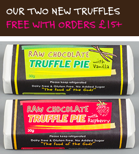 Free truffles with orders 15 pounds and over