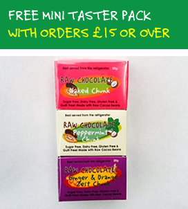 Free mini taster pack with orders 15 pounds and over