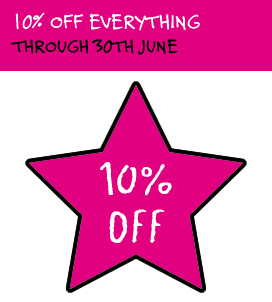 10 percent off everything during June