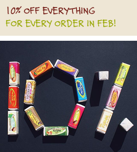 10 percent off everything in Feb