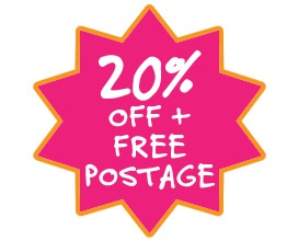 20% off everything and free postage