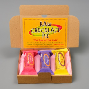 Raw Chocolate Pie Box of 3