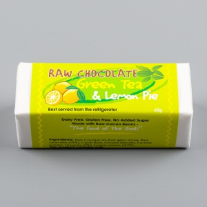 Raw Chocolate Green Tea & Lemon Pie