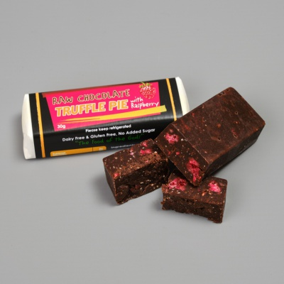 Raw Truffle Slice with Raspberry