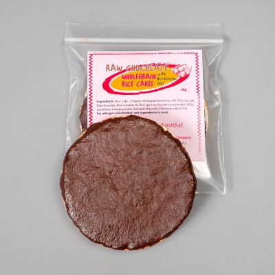 Raw Chocolate Wholegrain Rice Cakes with Himalayan Salt