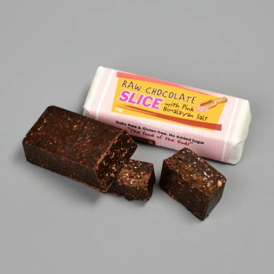 Raw Chocolate & Pink Himalayan Salt Slice