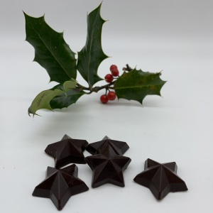 Raw chocolate Tubs of Christmas Stars
