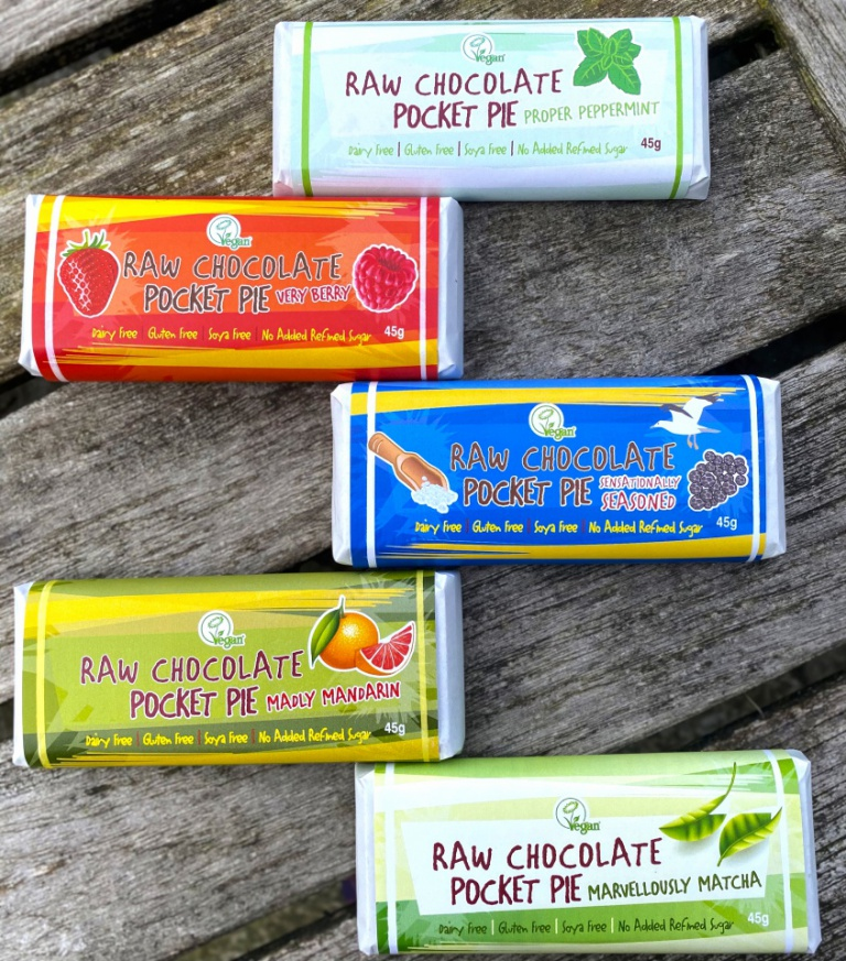 Raw Chocolate Pocket Pie - Pack of 3